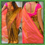 Yellow Pink Uppada Silk Sarees