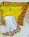 Yellow White K.K Handloom Cotton Silk Sarees