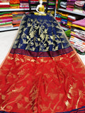 Blue Red Dhakai Jamdani Sarees