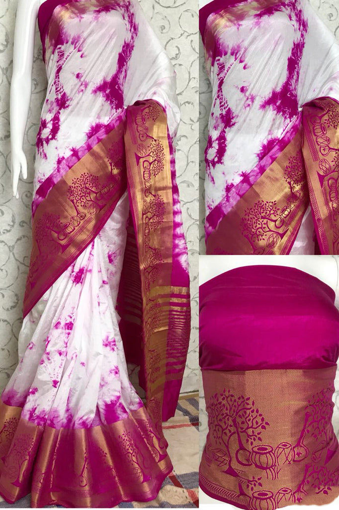 Purple Raw Silk Sarees