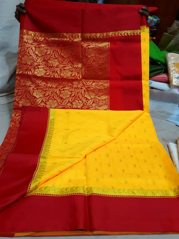 Red Yellow Garad Silk Sarees