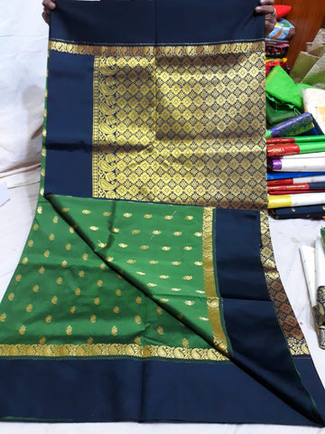 Blue Green Garad Silk Sarees