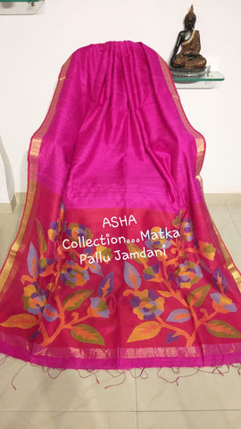 Purple Matka Silk Sarees