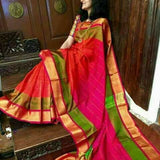 Red Purple Uppada Silk Sarees