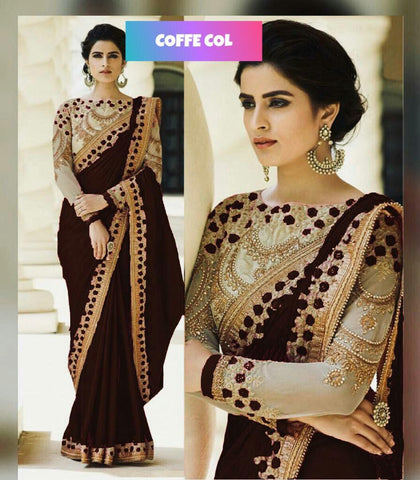 Black Party Wear Sarees