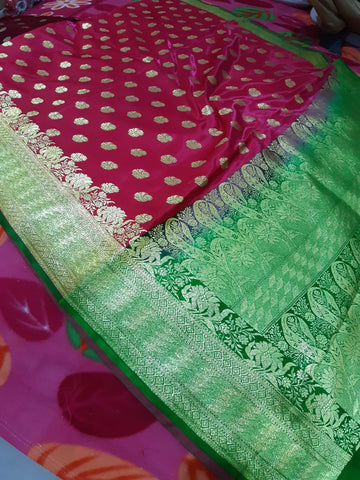 Red Green Koriyal Banarasi Silk Sarees