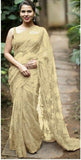 Beige Designer Party Wear Sarees