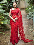 Red Designer Party Wear Sarees