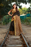 Black Beige Cotton Silk Sarees