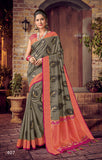 Grey Pink Designer Party Wear Sarees