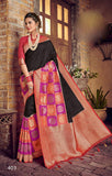 Black Purple Designer Party Wear Sarees