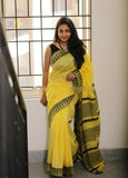 Yellow Kota Silk Sarees
