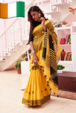 Yellow Cotton Silk Sarees