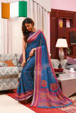 Blue Cotton Silk Sarees