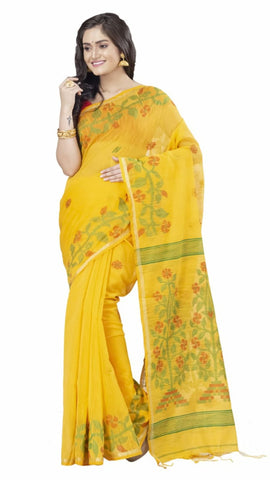 Brown Black Yellow Handloom Silk Sarees