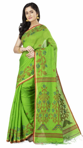 Green Handloom Cotton Silk Sarees