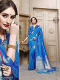 Blue Designer Cotton Pure Silk Party Wear Sarees