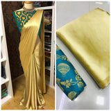 New Arrival Green Golden Designer Party Wear Sarees