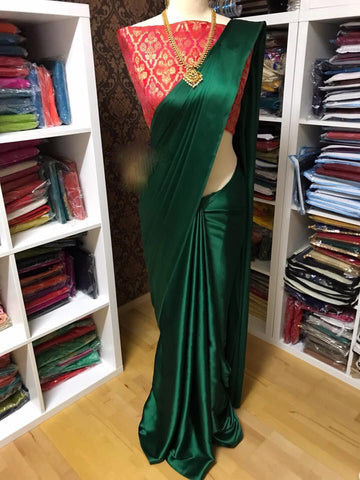 New Arrival Green Designer Party Wear Sarees