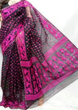 Black Purple Jamdani Sarees