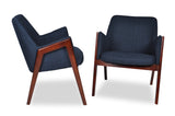 Jameson Lounge Chairs (Deep Blue - Set of 2) - TB3 Home