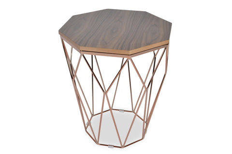 Hella Pink Gold End Table - TB3 Home