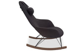 Ingrid Rocking Chair (Charcoal Grey)