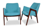 Jameson Lounge Chairs (Turquoise - Set of 2) - TB3 Home