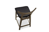 "Dora Counter Stool 29"" (Black Leather - Set of 2) - TB3 Home"