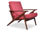 Hendrix Lounge Chair (Red Orange)