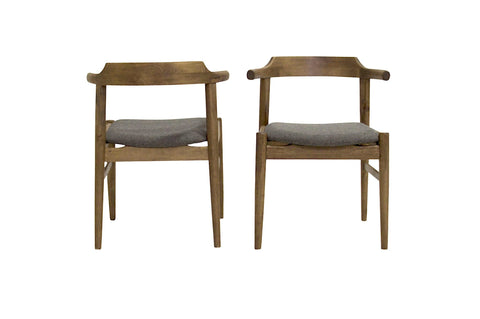 Zola Dining Chair Set of 2 (Grey Fabric) - TB3 Home