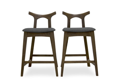 "Dora Bar Stool 29"" (Dark Grey - Set of 2) - TB3 Home"