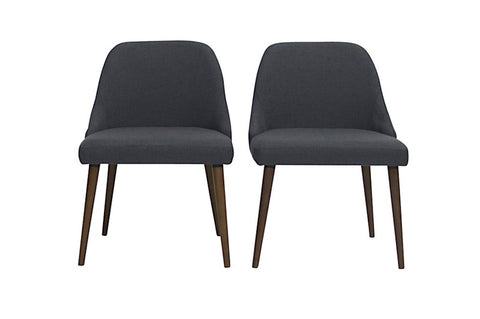 Elm Dining Chairs (Dark Grey - Set of 2) - TB3 Home