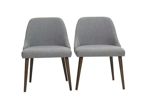 Elm Dining Chairs (Light Grey - Set of 2) - TB3 Home