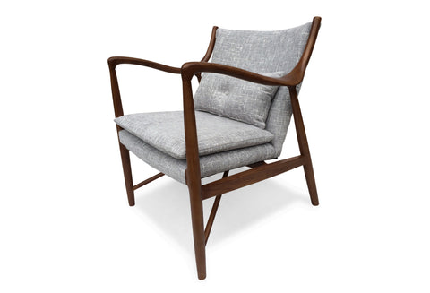 Fredrickson Lounge Chair (Winter Grey) - TB3 Home