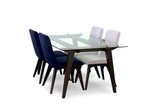Barrington Mid Century Modern Glass Dining Table - TB3 Home
