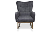 Charlotte Rocking Chair (Grey Velvet) - TB3 Home