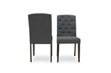 Emily Dining Chairs (Light Grey - Set of 2) - TB3 Home