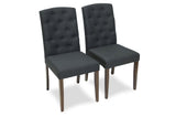 Emily Dining Chairs (Dark Grey - Set of 2) - TB3 Home