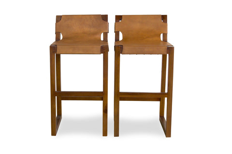 "Suro Counter Stool 24"" (Tan - Set of 2) - TB3 Home"