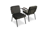 Drake Lounge Chair Set of 2 (Grey) - TB3 Home