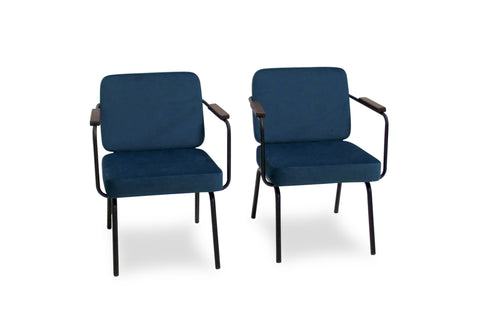 Drake Lounge Chair Set of 2 (Turquoise) - TB3 Home