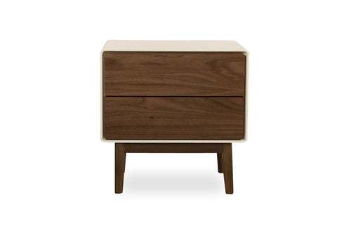Monica Night Stand (White Walnut) - TB3 Home