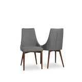 Gaines Dining Chairs (No Piping - Light Grey - Set of 2) - TB3 Home