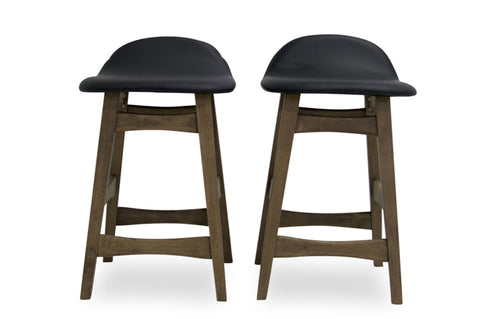 "Sede Counter Stool 24"" (Black - Set of 2) - TB3 Home"