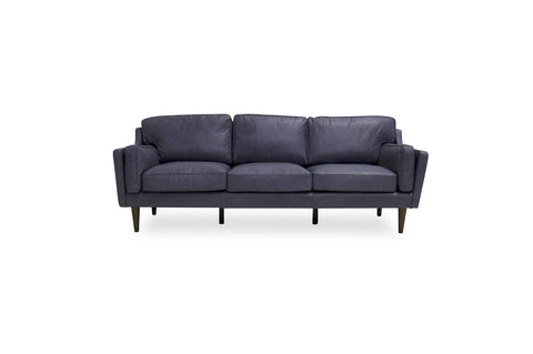Bolton Leather Sofa (Grey) - TB3 Home