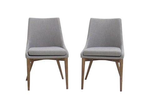 Bramwell Dining Chairs (Light Grey - Set of 2) - TB3 Home