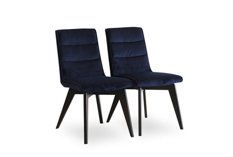 Aspen Dining Chairs (Navy Velvet - Set of 2) - TB3 Home