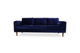 Fordham Velvet Sofa (Navy Blue) - TB3 Home