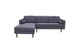 Kirby Sectional Sofa (Seaside Grey - Left Facing Chaise) - TB3 Home